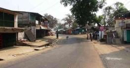 রাঙামাটি শহরের দোকানপাট বন্ধ, সড়ক ফাঁকা