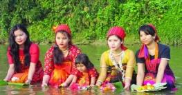 বান্দরবানে পারিবারিকভাবে বৈসাবি উৎসব