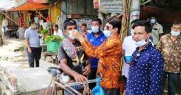 বান্দরবানে করোনা প্রতিরোধে মাস্ক পরিধান ক্যাম্পেইন শুরু