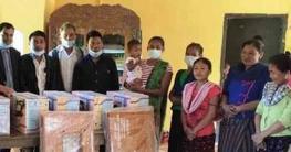 বান্দরবানের রোয়াংছড়িতে দু:স্থ মহিলাদের মাঝে সেলাই মেশিন বিতরণ