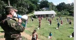 বান্দরবানে কর্মহীন পরিবারদের সেনাবাহিনীর খাদ্য সহায়তা