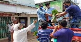 রাঙামাটি শহরে বারী মাতব্বর ফাউন্ডেশনের শাক সবজি বিতরণ