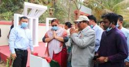 সুয়ালক পাড়া সরকারি প্রাথমিক বিদ্যালয়ে শহীদ মিনারের উদ্বোধন