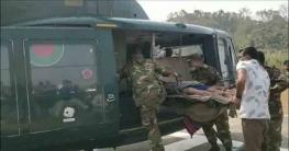 বান্দরবানে ভাল্লুকের আক্রমনে আহতদের সেনাবাহিনীরহেলিকপ্টারেচট্টগ্রামে প্রেরণ